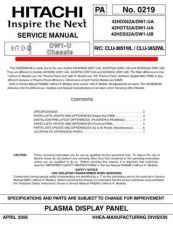 Buy Hitachi 42HDT52A Service Manual by download Mauritron #287917
