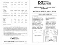 Buy Design Acoustics PS10A Operating Guide by download Mauritron #315971
