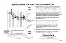 Buy Micromark 60663 Plank Forming Jig Operating Guide by download Mauritron #332207