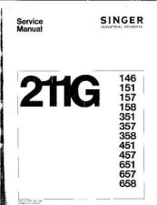 Buy Singer 211G146 151 157 Sewing Machine Service Manual by download Mauritron #321320