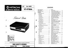 Buy Hitachi VTF382A Service Manual by download Mauritron #287196