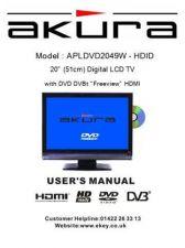 Buy Akura APLDVD2049W-HDID-IB Service Manual by download Mauritron #330294