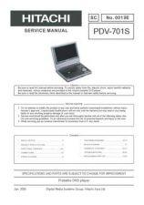 Buy Hitachi PDV-701S Service Manual by download Mauritron #290647