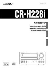 Buy Teac CR-H225E-B Operating Guide by download Mauritron #318463