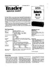 Buy Roberts RM50 Radio Service Information by download Mauritron #337838