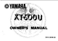 Buy Yamaha 2WK-28199-20 Motorcycle Manual by download #334009