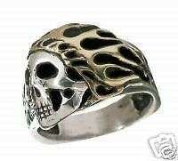 Buy Flamin Indian Motorcycle ring Sterling Silver