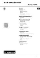 Buy Ariston AVXXL109 Spanish Washer Operating Guide by download Mauritron #306796