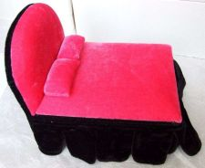 Buy CUTE PINK BLACK JEWELRY BOX BED BARBI DOLLHOUSE FURNITURE VINTAGE FASHION KIDS