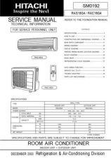 Buy Hitachi RAS-RAC-10C8G Service Manual by download Mauritron #286163