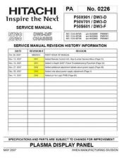 Buy Hitachi P50X901 Service Manual by download Mauritron #290536