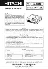 Buy Hitachi CP-X880C8X-885 Service Manual by download Mauritron #289314
