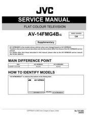 Buy JVC AV-14FMG4BG Service Manual by download Mauritron #279485