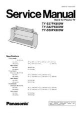 Buy Panasonic TY-S37PX600W Manual by download Mauritron #302550