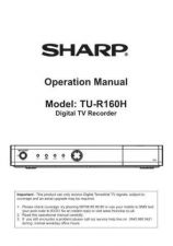 Buy Sharp TU-R160H Operating Guide by download Mauritron #325688