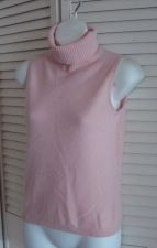Buy Lord & Taylor Sleeveless Cashmere S 8 PinkShell Turtleneck 2Ply Cashmere S 6 8
