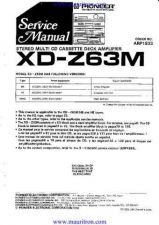 Buy Pioneer XDZ63M Manual by download Mauritron #325444