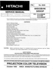Buy Hitachi PA-0028 Service Manual by download Mauritron #290550