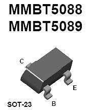 Buy SMT Transistor - MMBT5089 NPN General Purpose Amplifier (SOT-23) - 24 Pieces