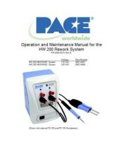 Buy Pace HW 200 Manual Rev B by download Mauritron #314245