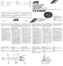 Buy JVC CS-XV6930-9 Service Manual by download Mauritron #280253