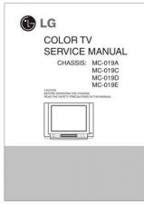 Buy LG SERVICE MNAUL 019E Manual by download Mauritron #305909