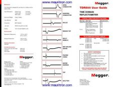 Buy Megger TDR-1000-2 Test Equipment Instruction Operating Guide Manual by download Mauri