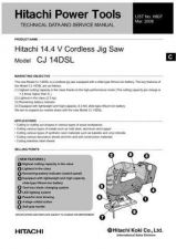 Buy Hitachi CJ14DSL Tool Service Manual by download Mauritron #319735