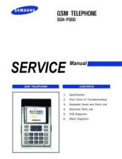 Buy Samsung SGH-P300 Mobile Phone Service Manual by download Mauritron #306402