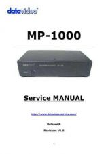 Buy Datavideo MP6000 Service Manual by download Mauritron #324939