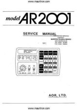 Buy AOR AR2001 Service Manual by download Mauritron #330346