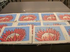 Buy Wholesale bulk Lot of Western Australia Native Flower Print Painting on canvas