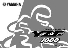 Buy Yamaha 4XJ-28199-24 Motorcycle Manual by download #334366