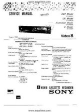 Buy Sony EVA300 Service Manual by download Mauritron #328913