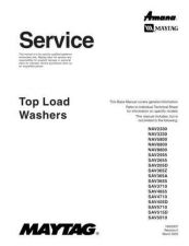 Buy Maytag SAV-365Z Top Load Washer Manual by download Mauritron #326228