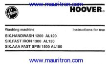 Buy Hoover AL130 Guide by download Mauritron #326761