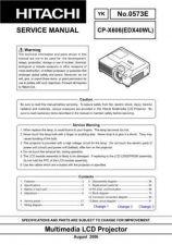Buy Hitachi CP-X935W Service Manual by download Mauritron #289319