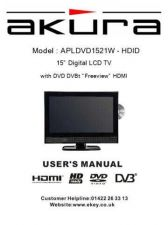 Buy Akura APLDVD1521W HDID I Book Service Manual by download Mauritron #330290