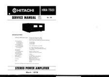 Buy Hitachi HMA7500 Service Manual by download Mauritron #290414