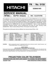 Buy Hitachi 53UWX10BA Service Manual by download Mauritron #288299