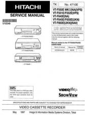 Buy Hitachi VT-78AY-2 Service Manual by download Mauritron #287088