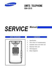 Buy Samsung SGH-Z510 Mobile Phone Service Manual by download Mauritron #306493