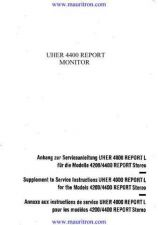 Buy Uher 4400 Report Monitor Manual by download Mauritron #321679