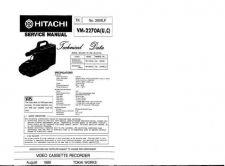 Buy Hitachi VM5400A Service Manual by download Mauritron #291002