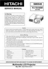 Buy Hitachi PJ-LC7_ES Service Manual by download Mauritron #290692