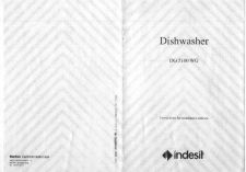 Buy Indesit DG5100WG Dishwasher Operating Guide by download Mauritron #325860