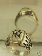 Buy NEW YORK YANKEES Flame Ring sterling silver