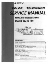 Buy Apex AT2002 Television Service Manual by download Mauritron #321721