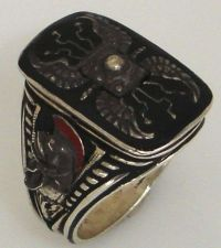 Buy Praetorian Guard Shield ring Sterling Silver Lge