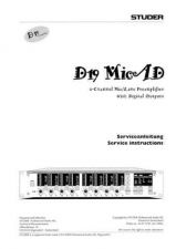 Buy Studer D19_MicAD_Service Manual & Operating Guide by download Mauritron #313113